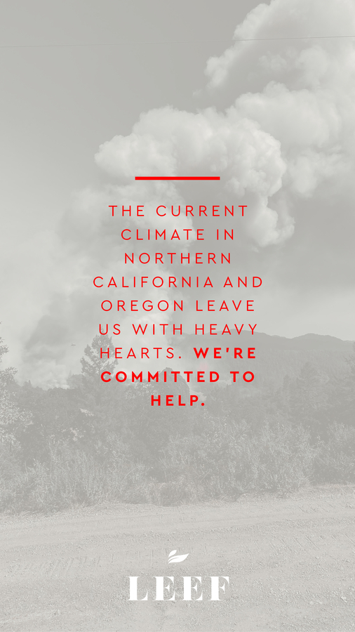 LEEF Launches a Give Back Initiative, in Support of the Little Lake Fire Department and Their Ongoing Battle With the Fires That Have Scorched Over 880,000 Acres