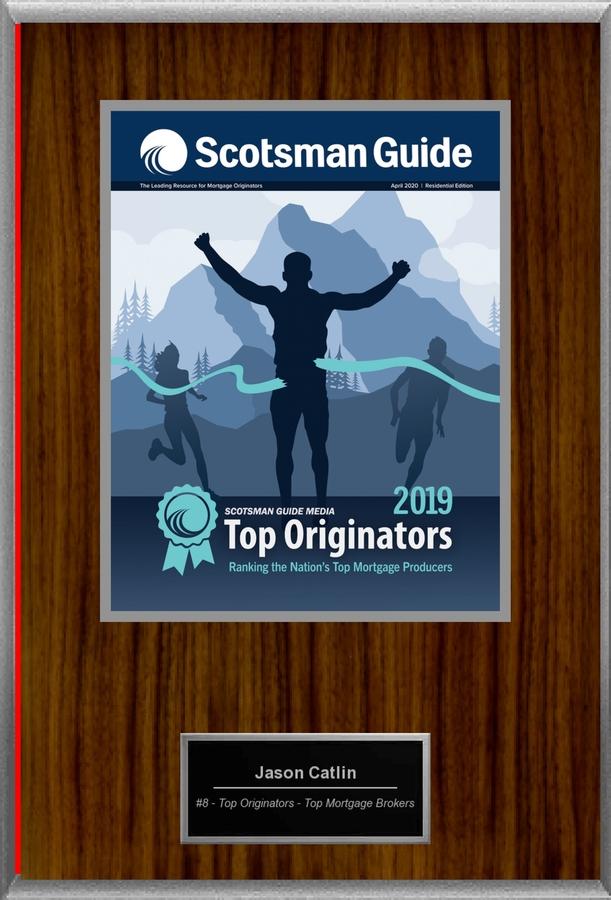 Scotsman Guide Ranks Catlin Capital, Inc.'s Jason Catlin as WASHINGTON STATE #1 MORTGAGE BROKER