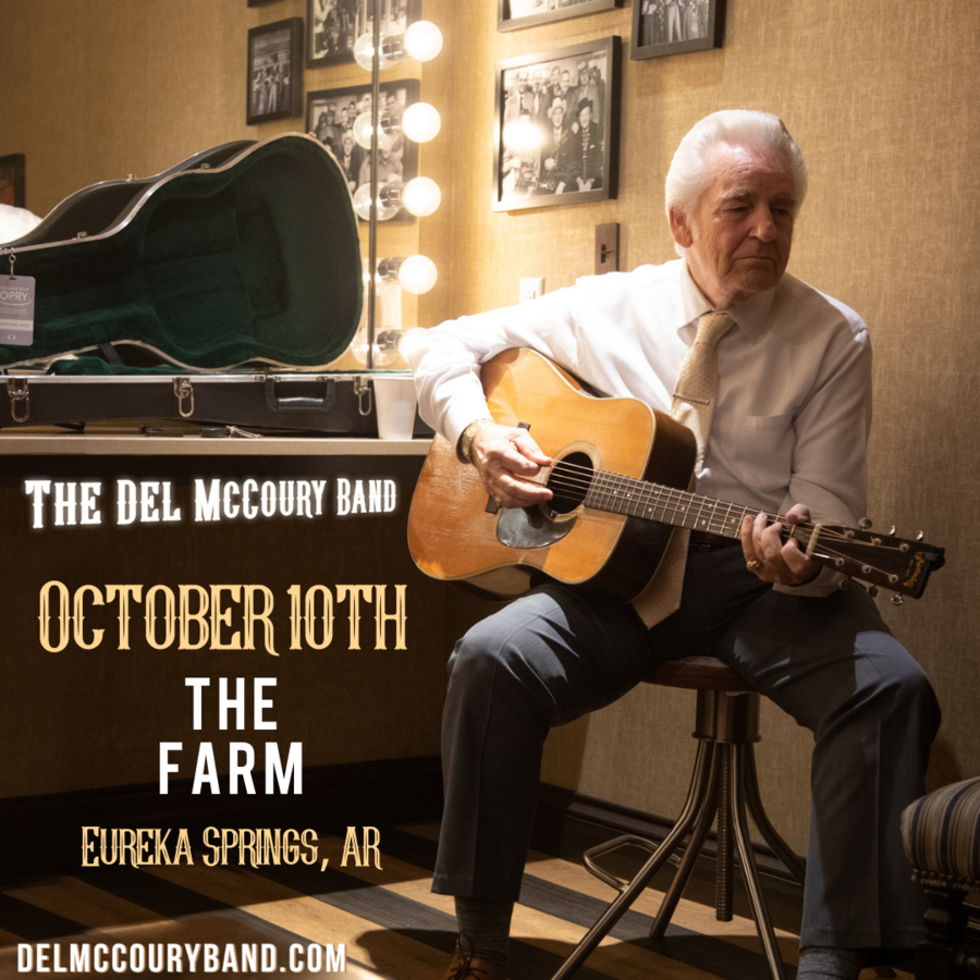 Bluegrass Legend Del McCoury is Coming to Northwest Arkansas