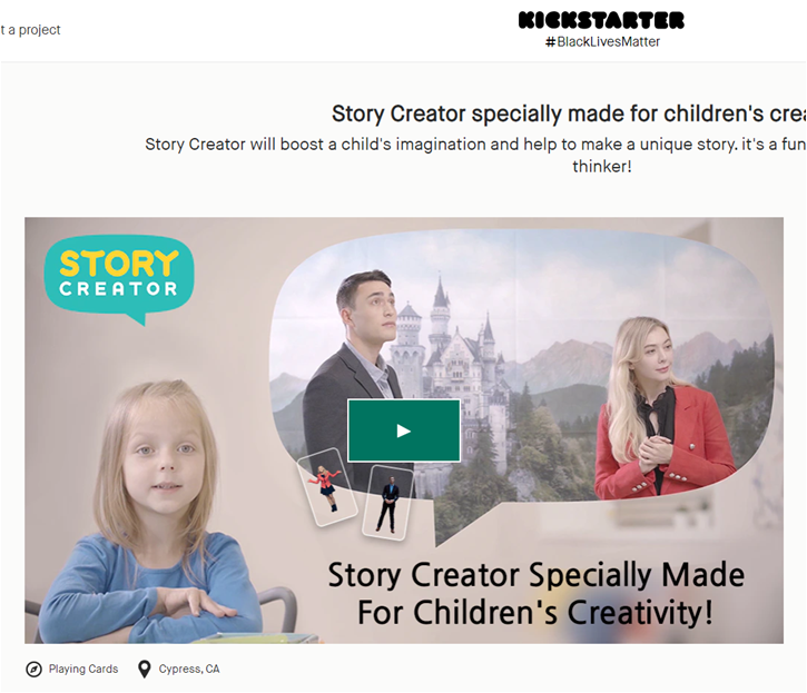 Story Creator Sam Corporation Accelerates Entry into the Global Market through Kickstarter