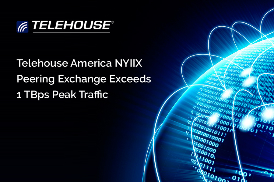 Telehouse America NYIIX Peering Exchange Exceeds 1 Tbps Peak Traffic