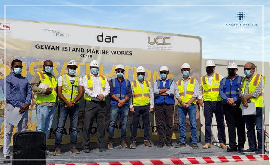 UCC Achieves 1 Million Safe Man Hours for Gewan Island Marine Works Project