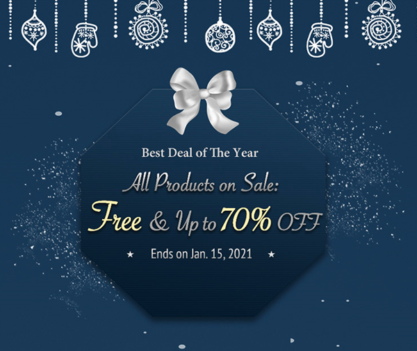 TunesKit Launched Christmas and New Year Sale – Free Gift and Up to 70% Off