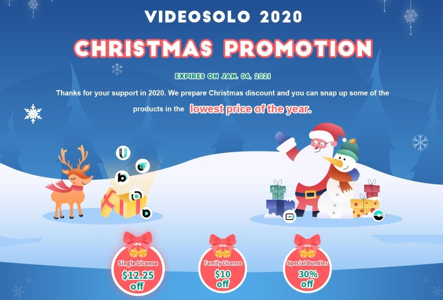 VideoSolo Announced Christmas Promotion – The Lowest Price of the Year