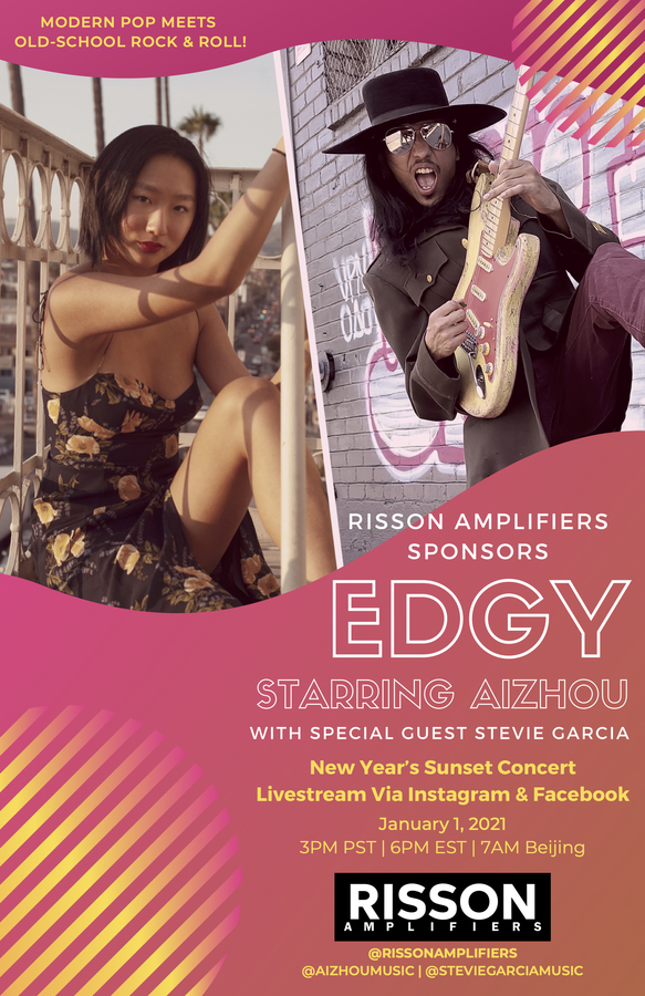 Aizhou & Risson's EDGY Livestream Concert Pops & Rocks in the New Year!