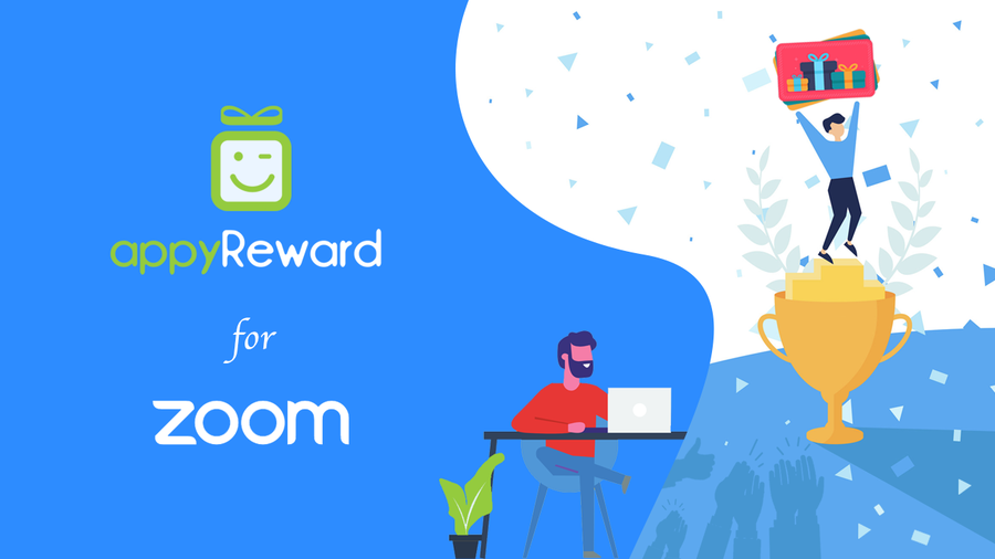 What's New on Zoom Apps? appyReward for Zoom Meetings, the App that allows Zoom Users to Reward their Audience with Branded Gift Cards or their own e-prize