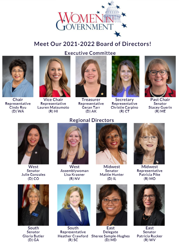 Women In Government Announces 2021-2022 Board of Directors
