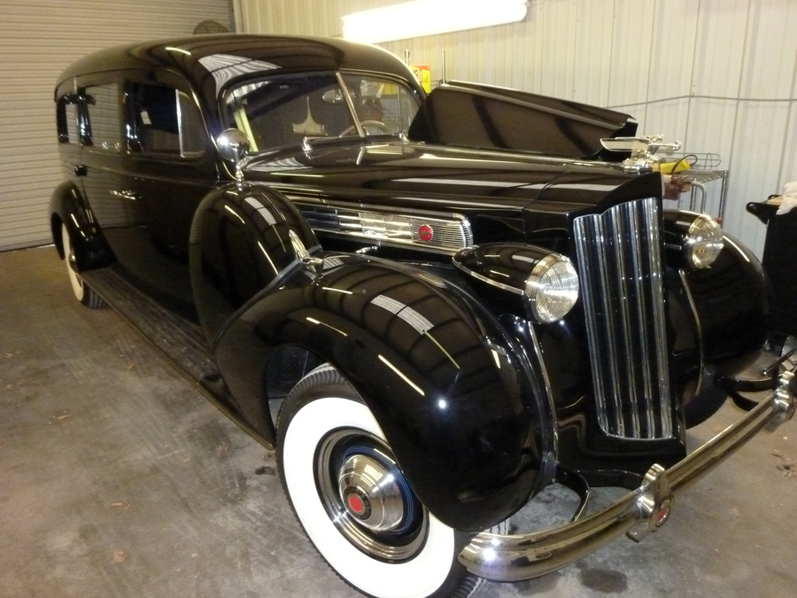Meticulously Restored 1939 Super 8 Packard Hearse Featured on Bring a Trailer
