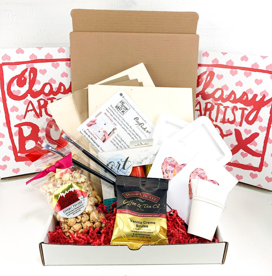 New Valentine's Date Art Kits from Classy Artist Box