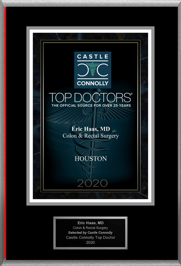 Dr. Eric Haas, MD is recognized among Castle Connolly Top Doctors® for Houston, TX region in 2020