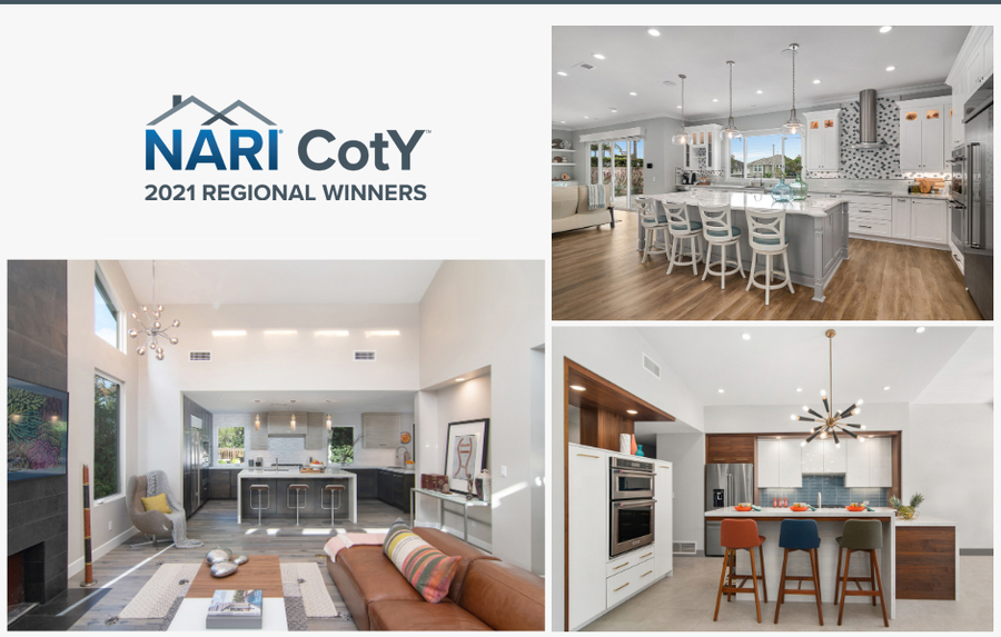 Jackson Design and Remodeling Starts 2021 Awards Season Off Strong, Wins Three Regional Contractor of the Year (CotY) Awards