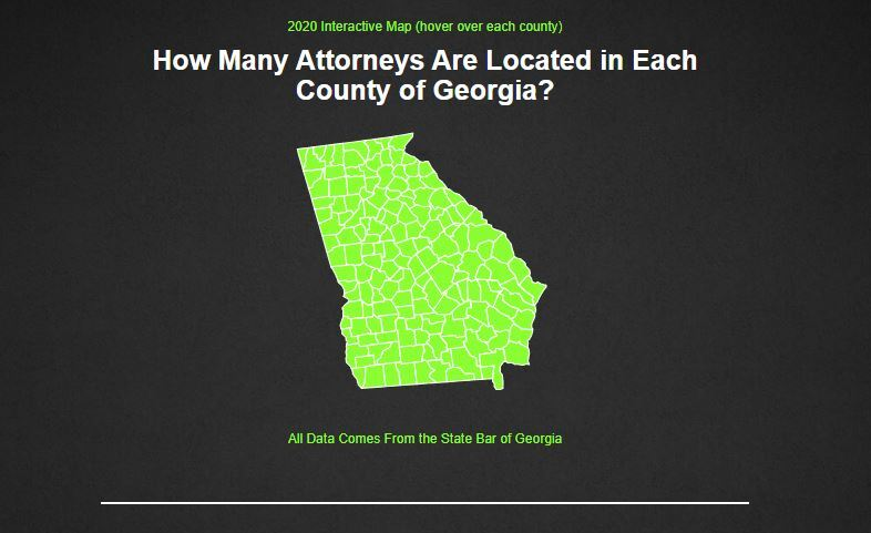 Attorney Population By Counties From The State Bar of Georgia