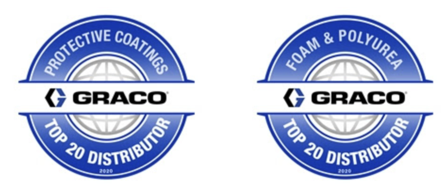 Intech Equipment and Supply Recognized as a Graco Top 20 North America Distributor for 2020