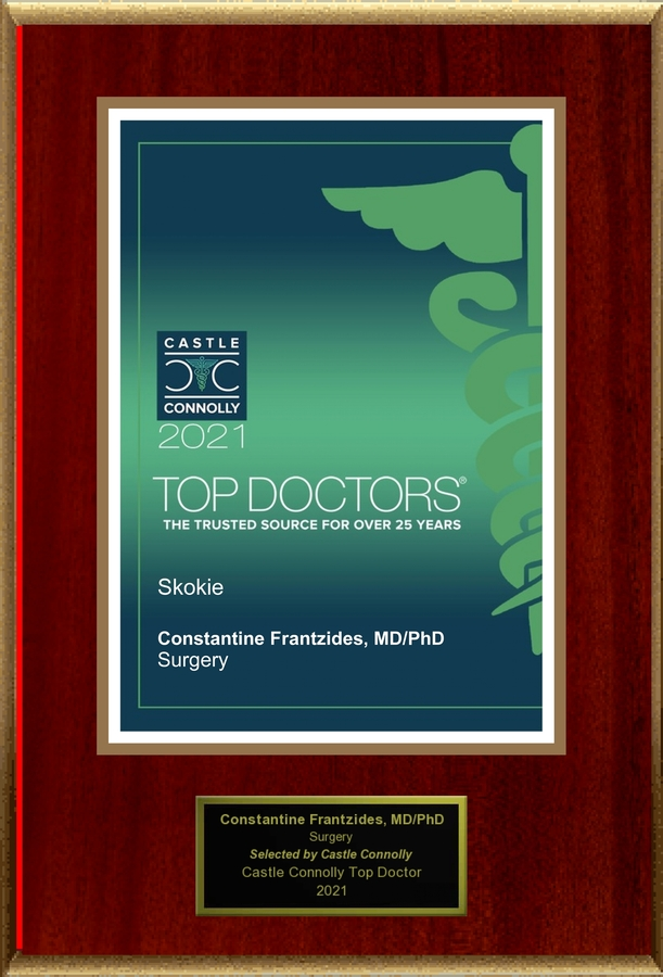 Dr. Constantine Frantzides MD, PhD, FACS, General Surgeon, is named one of America's Top Doctors®