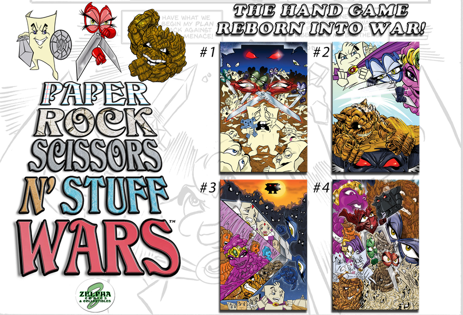 A Kickstarter Comic Book Re-imagines the Hand Game Rock-Paper-Scissors as a Cartoon War With Real Issues of Hatred, Genocide, Race Superiority, Faith and Forgiveness