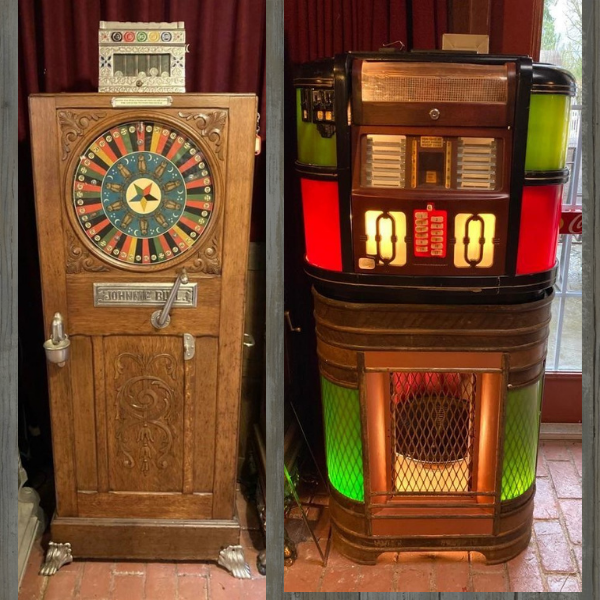 Get your Gangster on with a Rare Johnnie Bull Upright Slot Machine – Earliest Known Slot Machine. 1894 to Early 1900 Era.