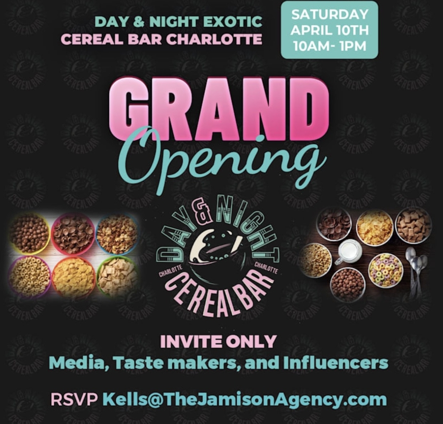 Forward-thinking Entrepreneurs To Launch Day & Night Exotic Cereal Bar Charlotte In A Grand Opening