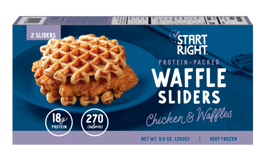 Start Right Launches Protein-Packed Chicken & Waffles Breakfast Sandwich