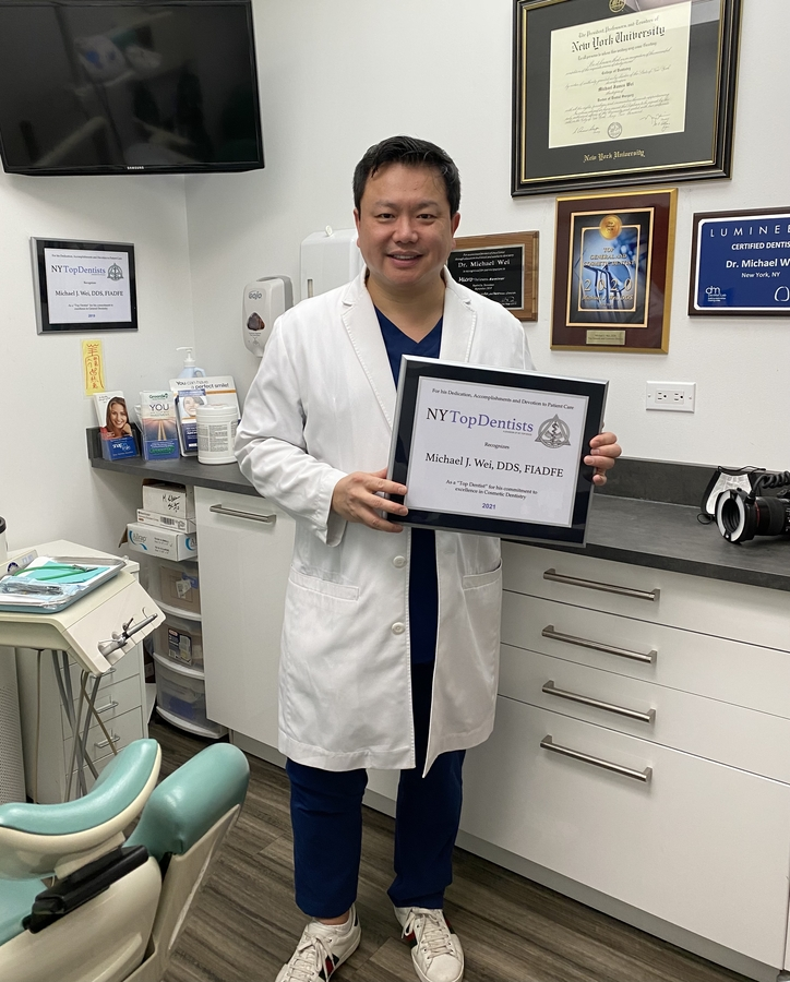 Dr. Michael J. Wei, NYC Cosmetic Dentist, Wins NY Top Dentist Award for 2021