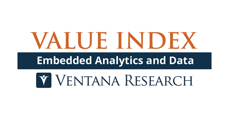 Ventana Research Releases Embedded Analytics and Data Value Index