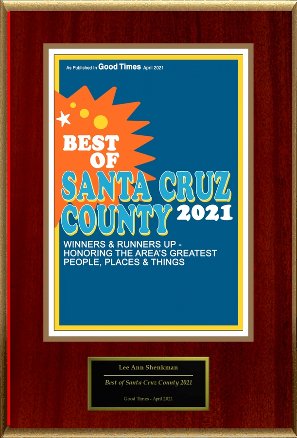 "Lee Ann Shenkman Selected For ""Best of Santa Cruz County 2021"""