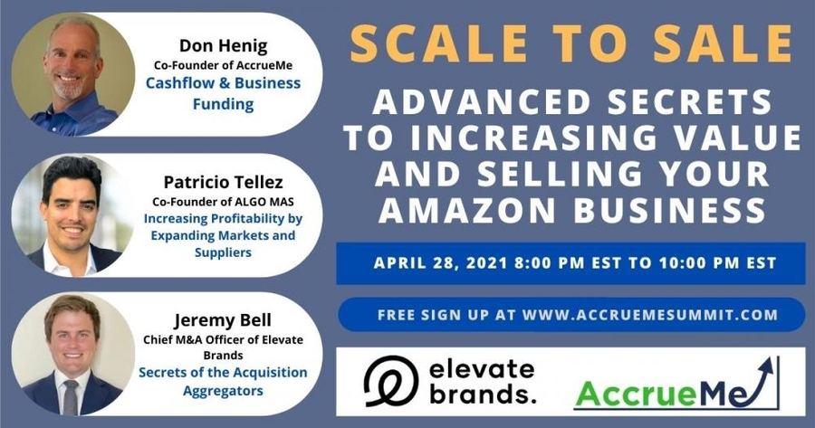 Leading Investor In Amazon Sellers AccrueMe To Host Scale To Sale Summit