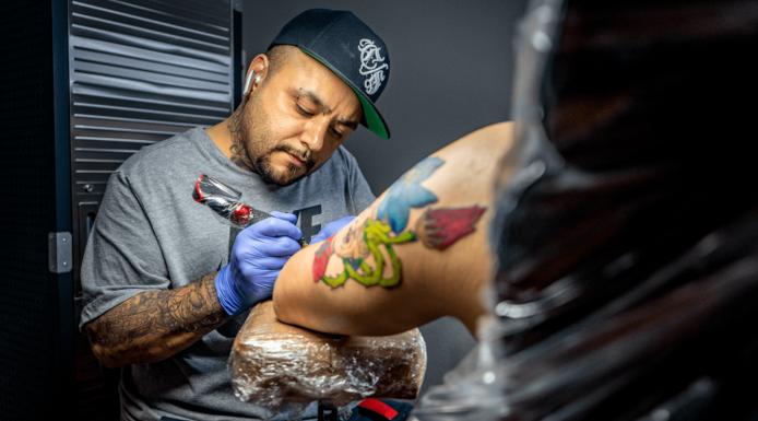Tattoo Artist Eric Opens Crimson Spade Tattoo Shop in Arlington Texas