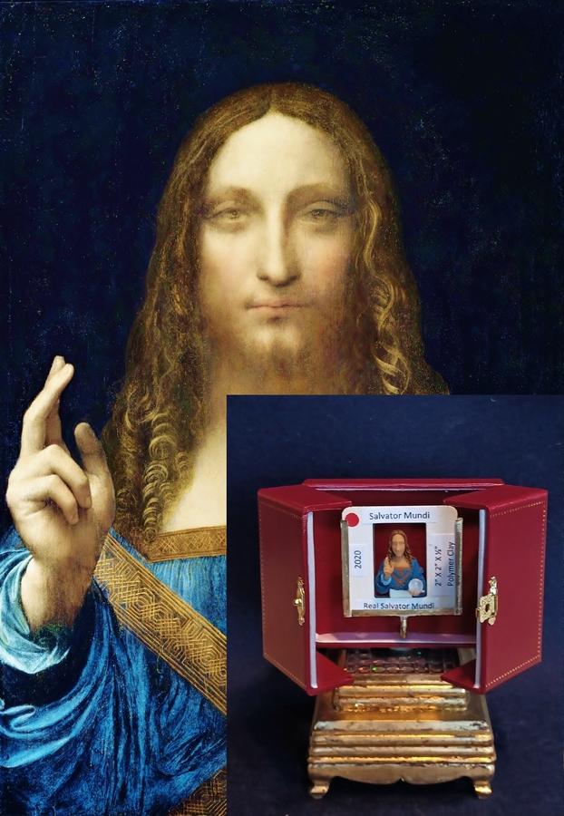 World's Smallest Rendition of da Vinci's Salvator Mundi Goes Up for Auction
