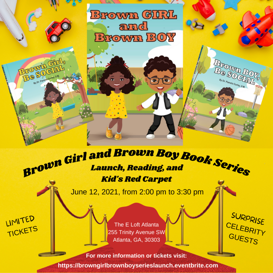 Dr. Pamela Gurley Announces Atlanta Book Launch Party And Reading For New Children's Series, Brown Girl and Brown Boy