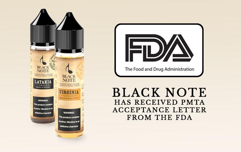 Black Note Receives FDA Premarket Tobacco Product Application (PMTA) Acceptance Letter