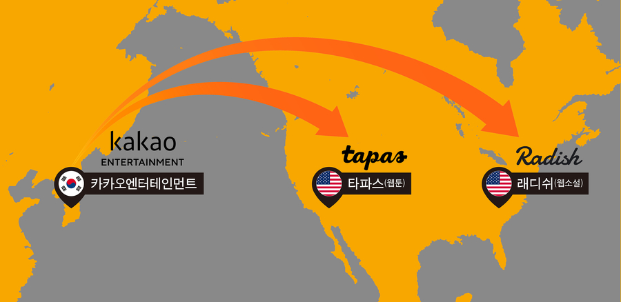 [PangyoTechnovalley] Kakao Entertainment Decided to Purchase the US-based Platforms, Tapas and Radish Accelerating its Growth in the Region