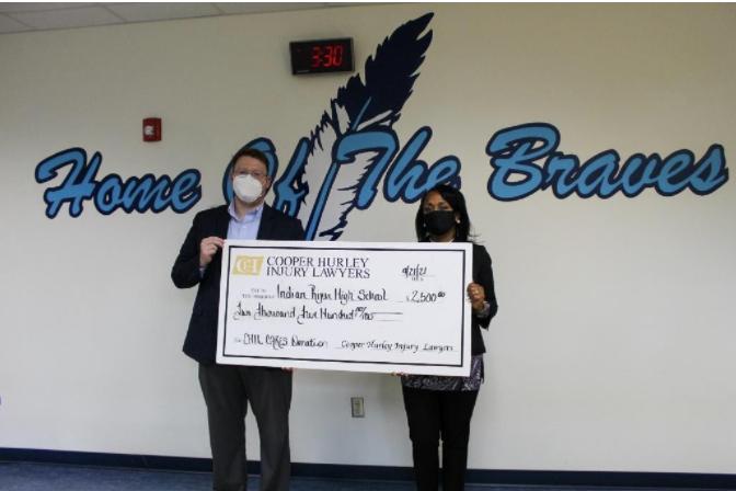 Chesapeake Attorney Bill O'Mara Donates $2,500 to Indian River High School
