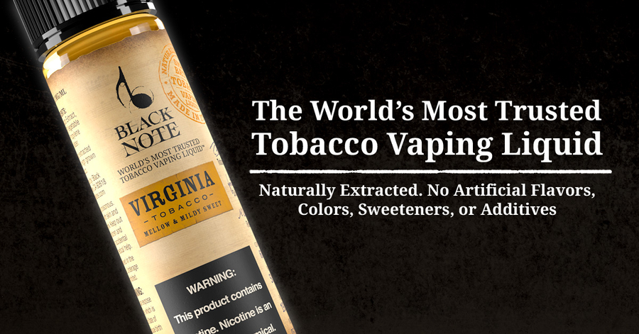 Black Note's Tobacco Vaping Liquid Story, Background, & Mission