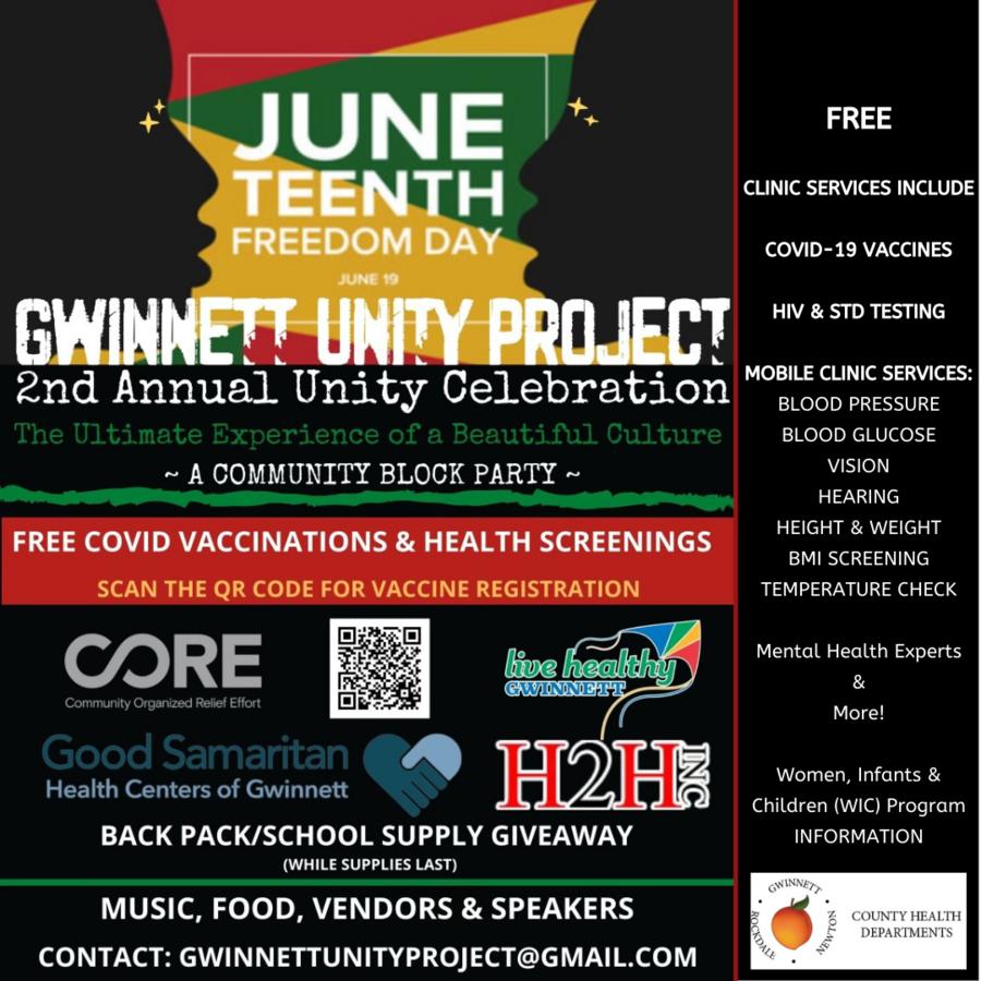 Gwinnett County Celebrates UNITY & Cultural Awareness on Juneteenth, 6/19
