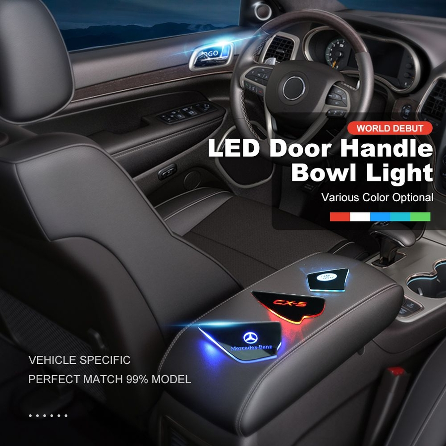 Aoonuauto Announced LED Door Handle Light with High Quality LED Bulb Inside, Stable Performance and Super Brightness