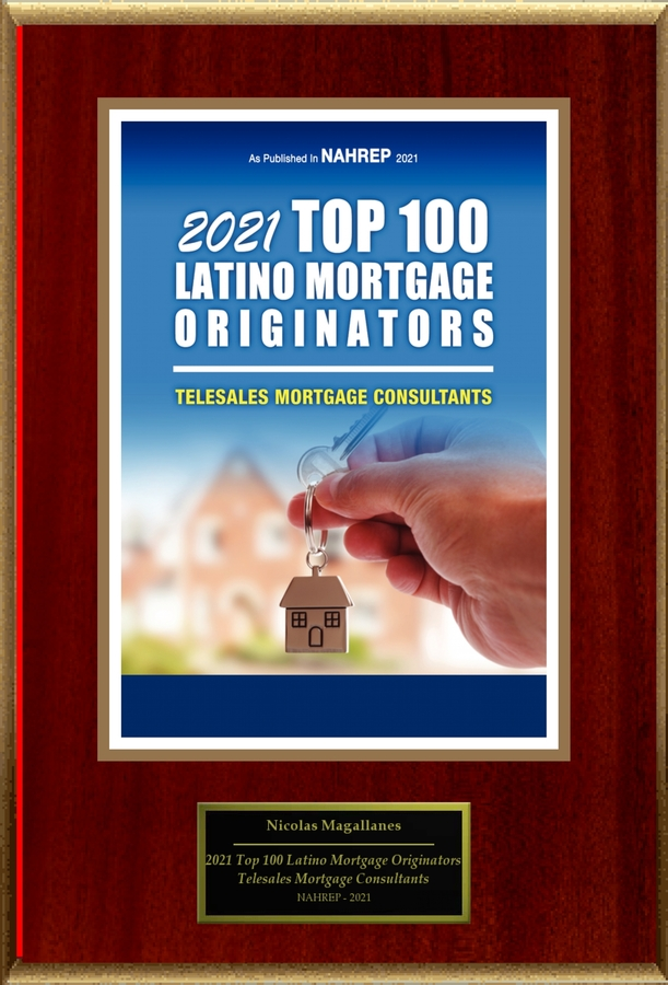 "Nicolas Magallanes Selected For ""2021 Top 100 Latino Mortgage Originators"""