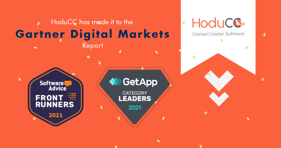HoduCC has made it to the Gartner's Category Leaders & FrontRunners List – May 2021