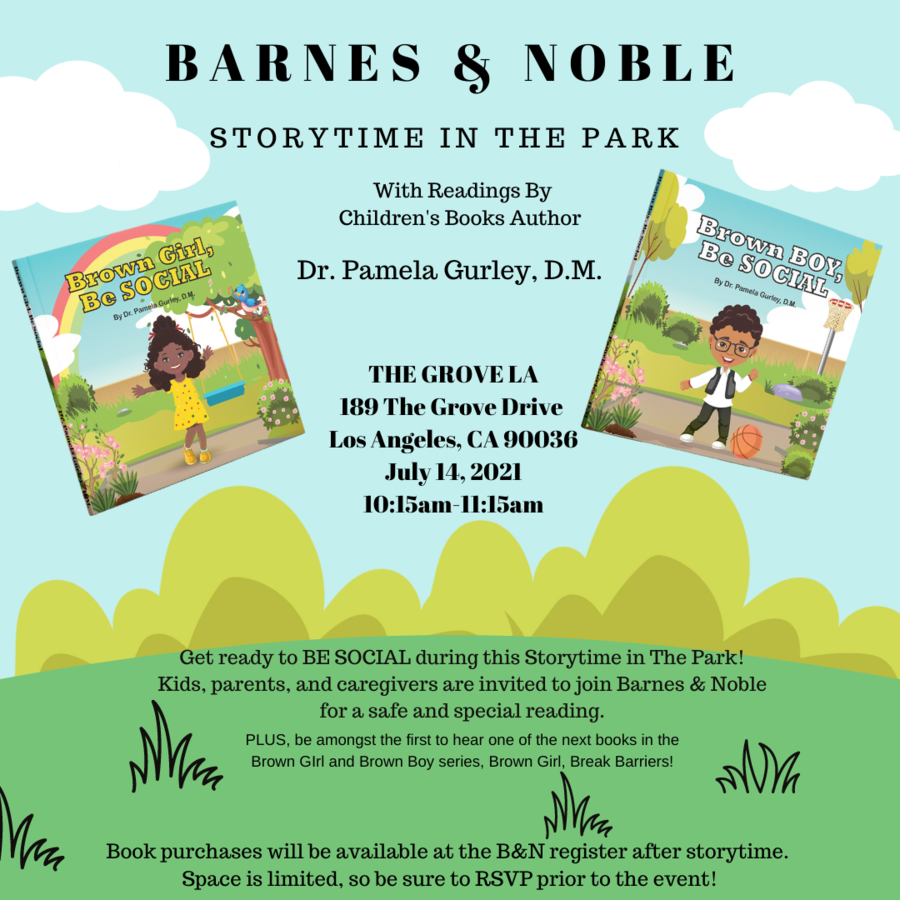 Dr. Pamela Gurley Set To Read Her New Children's Series, Brown Girl And Brown Boy, At Barnes & Noble's Storytime