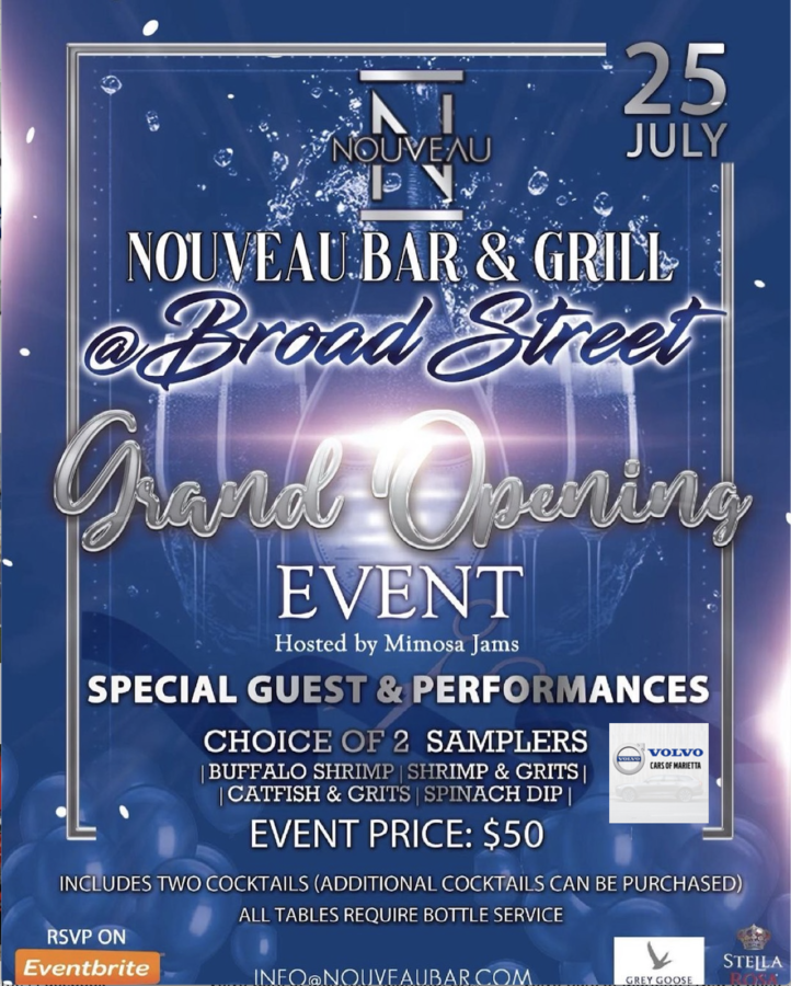 Nouveau Bar and Grill's Second Location in Jonesboro announces July 25th as the Official Grand Opening Date of 'Nouveau @ Broad Street.'