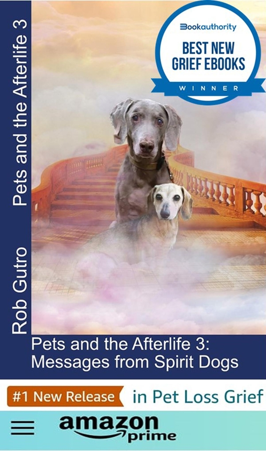 """""""Pets and the Afterlife 3"""" by Rob Gutro named one of BookAuthority's best new Grief ebooks"""