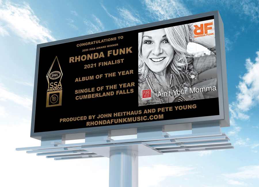 ISSA Winner Rhonda Funk Announces Northwestern Tour Dates for Late July and August and Major Industry Award Nominations