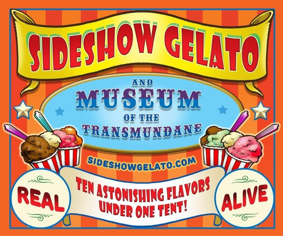 Upcoming Gelataria, SIDESHOW GELATO, Brings the Carnival for Family Friendly End of Summer Spectacular!