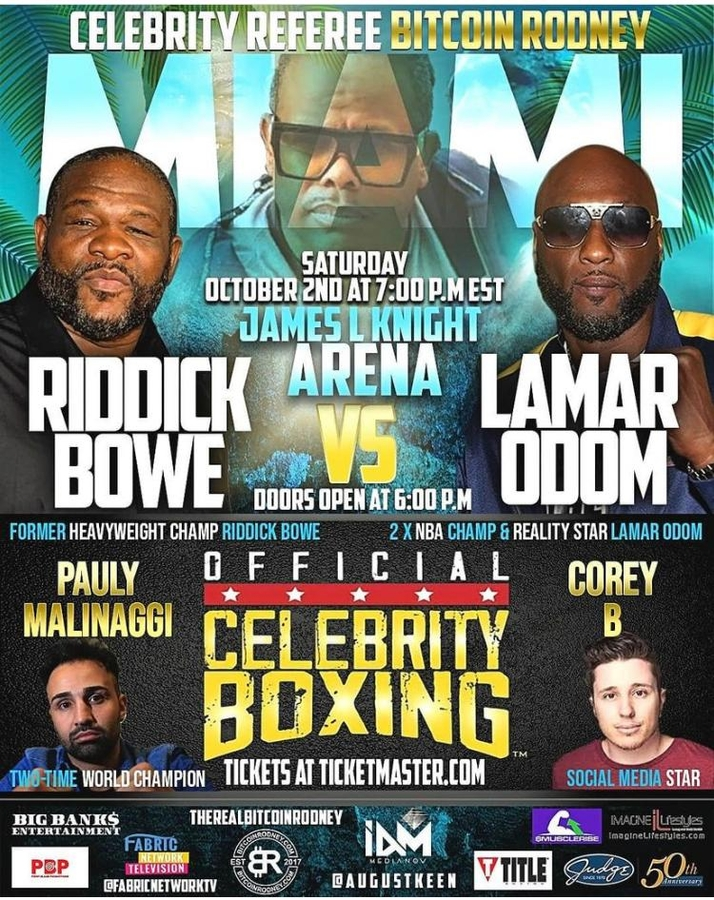 Bitcoin Rodney To Referee Celebrity Boxing Match in Miami, FL
