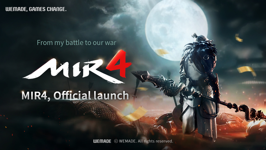 Wemade Co., Ltd. Announces Grand Opening of Blockbuster MMORPG 'MIR4' August 26