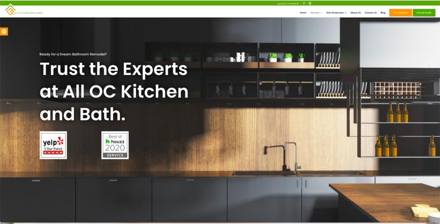 ALL OC Kitchen & Bath & Design Reveals Fresh Website, Virtual Studio