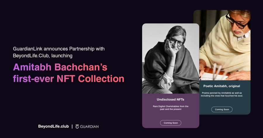 GuardianLink Announces Partnership with BeyondLife.Club, launching Amitabh Bachchan's first-ever NFT Collection