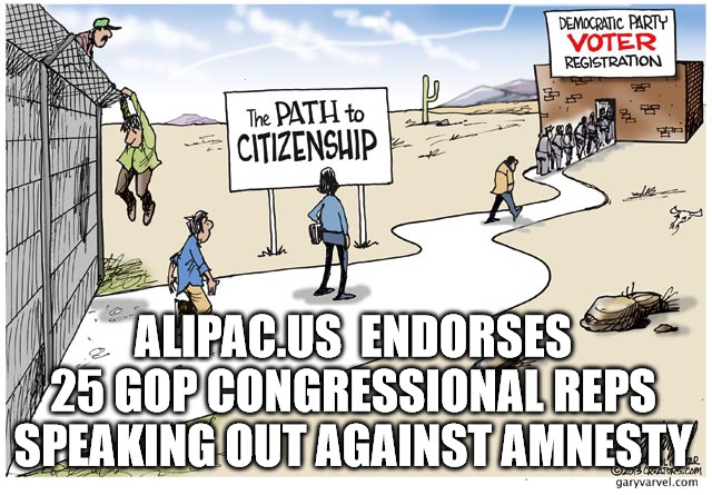ALIPAC Endorses GOP Congressional Reps Speaking Out Against Amnesty
