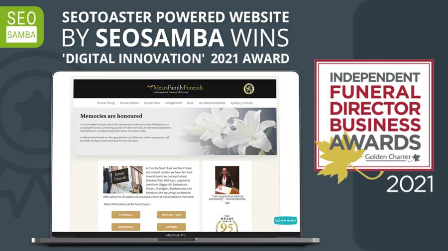 Mears Family Funerals Wins Prestigious 'Digital Innovation' 2021 Award