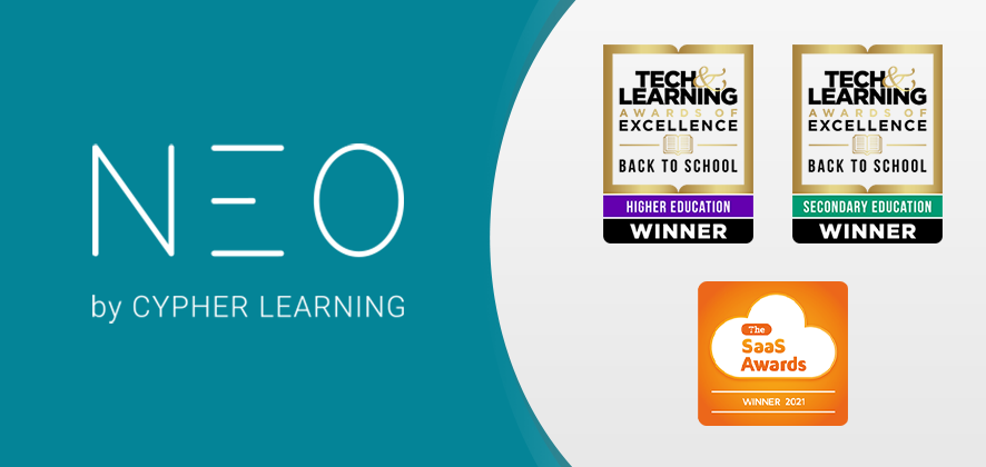 Winning streak: NEO LMS recognized by the 2021 Tech & Learning and SaaS Awards