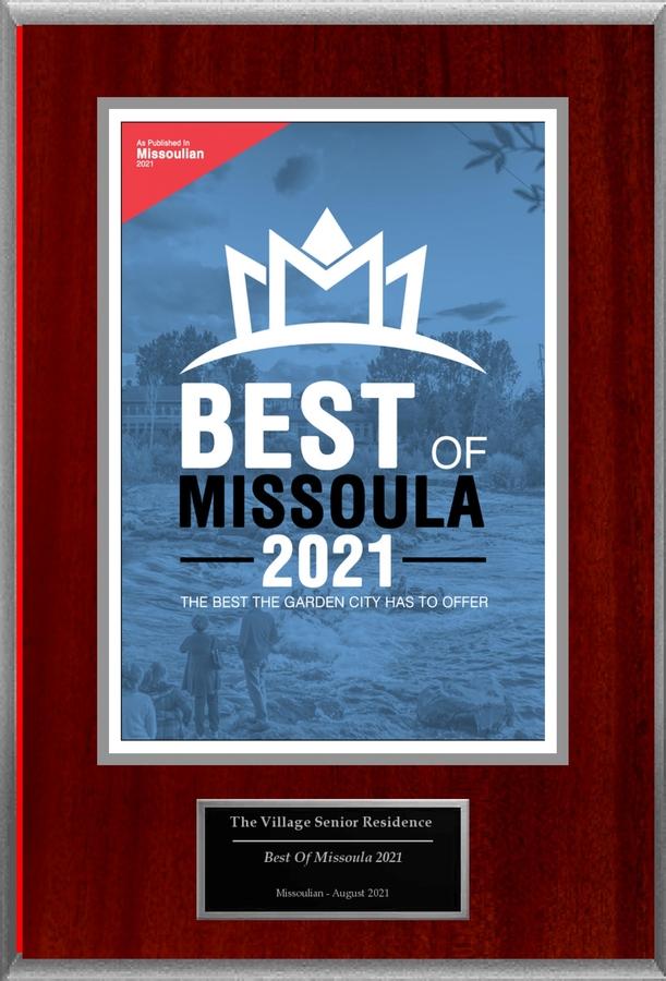 """The Village Senior Residence Selected For """"Best Of Missoula 2021"""""""